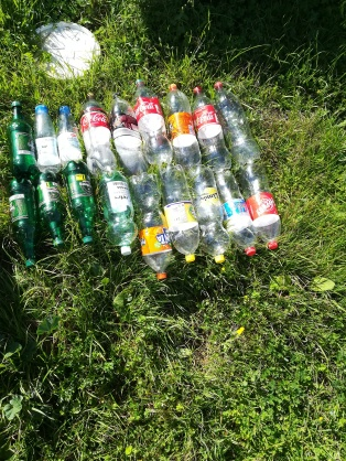 empty drinks bottles