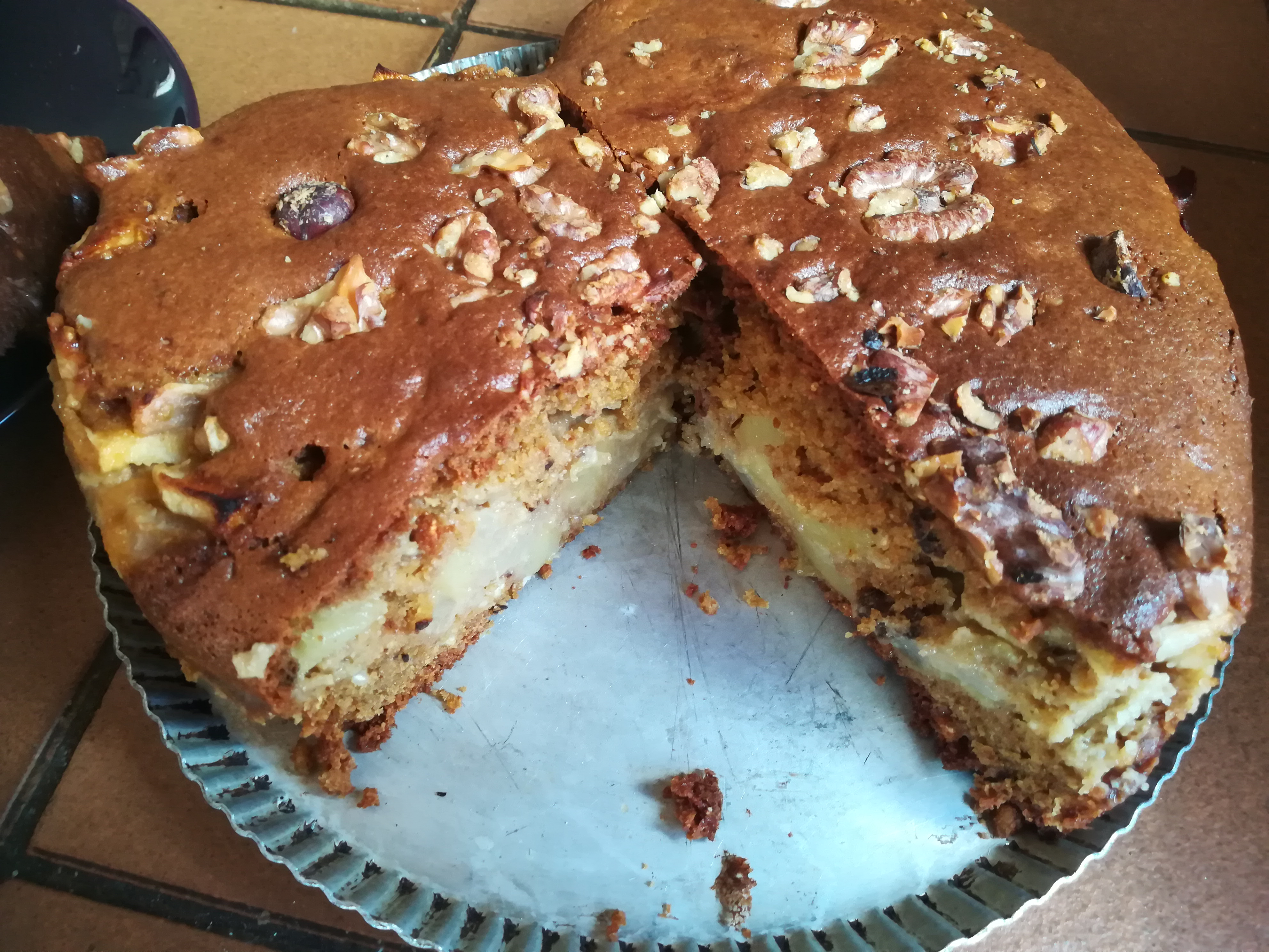 Karina's Jewish Apple Cake Recipe with Sour Cream'